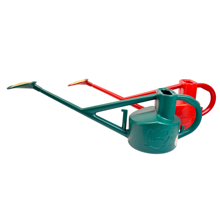 Haws Long Reach Watering Can - Green & Red
