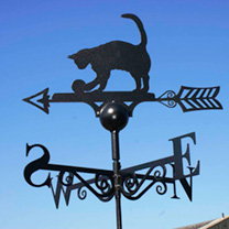 UK designed and manufactured, made from solid steel and zinc coated to prevent rust, this weather vane will make a handsome addition to any home. Self