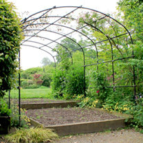 Monet Pergola 1.2m with Lattice & Patio Feet and Extension & Lattice
