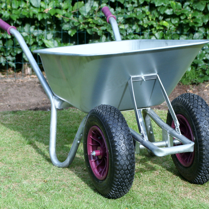 Carrier All Steel Duo Wheel Wheelbarrow