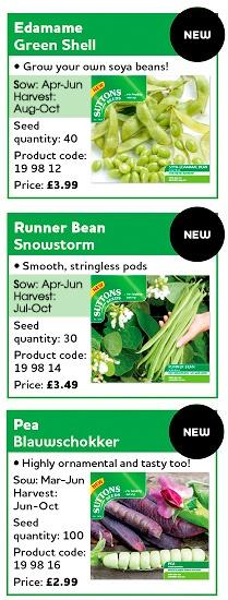 New products on the Pea and Bean Stand