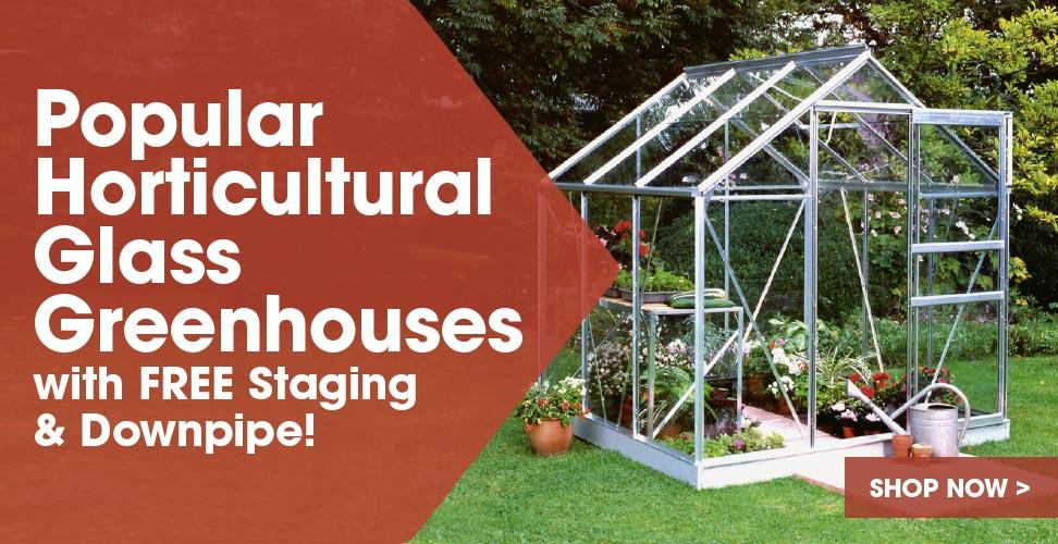 View our Popular Horticultural Glass Greenhouses