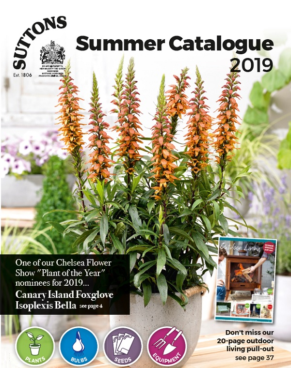 Suttons Summer 2019 Catalogue Cover