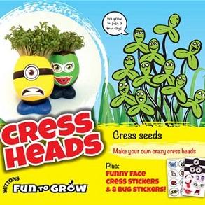 Fun to Grow Veg Seeds - 6 Packs for £7.50