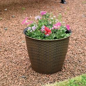 Rattan Effect Plant Pots