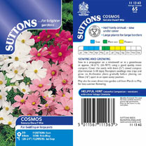 Cosmea Seeds - Sonata Dwarf Mix
