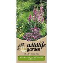 Especially for shady conditions. Includes: Foxglove, Bellflower, Garlic Mustard and other wild flowers. Various heights.