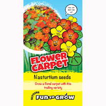 Nasturtium Seeds - Flower Carpet (Dayglow Mix)
