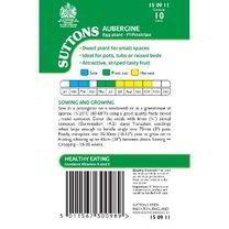 Aubergine Seeds - F1 Pinstripe