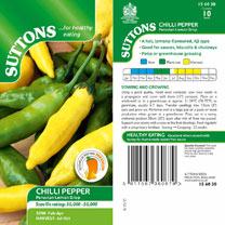 Pepper Chilli Seeds - Peruvian Lemon Drop