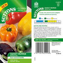 Pepper Sweet Seeds - Rainbow Mix