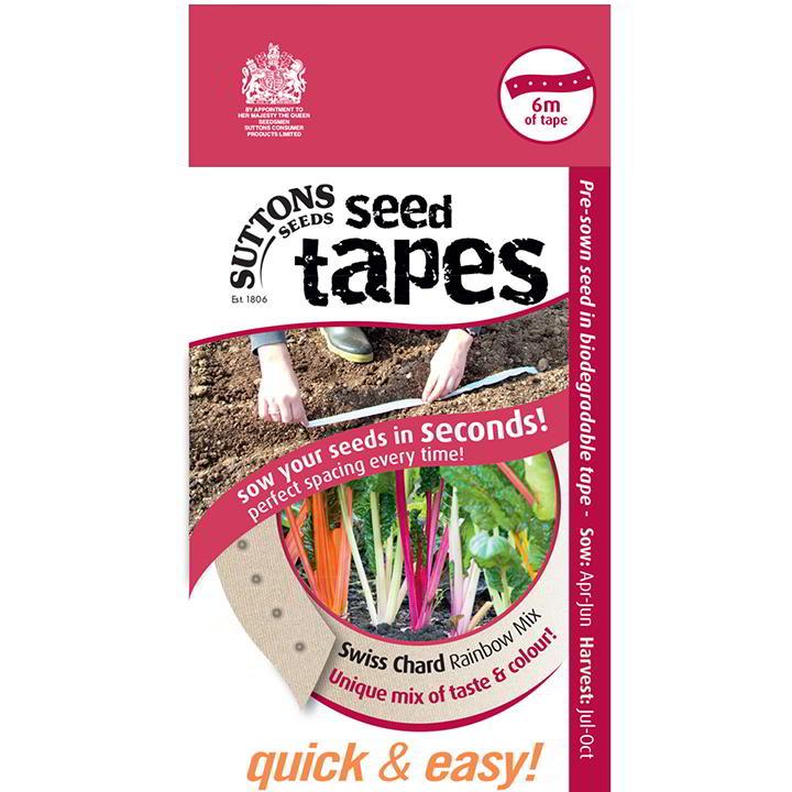 Seed Tape - Chard Rainbow