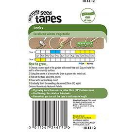 Seed Tape - Leeks