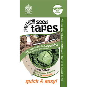 Seed Tape - Savoy Cabbage