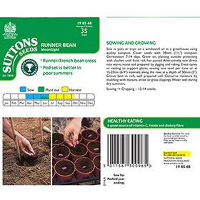 Bean (Runner) Seeds - Moonlight