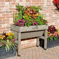 Veg Trug Wall Hugger 1m - Greywash plus FREE seeds worth £15