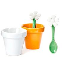 Espresso Flower Pot Cups