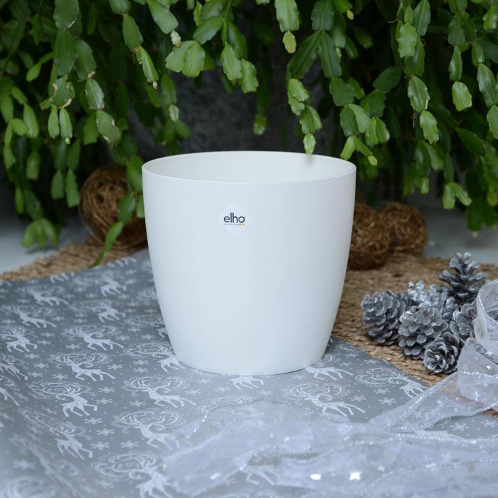Elho® Round White Pot 18cm