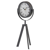 Tripod Table Clock - Brown