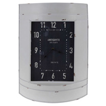 Metal Wall Clock - White