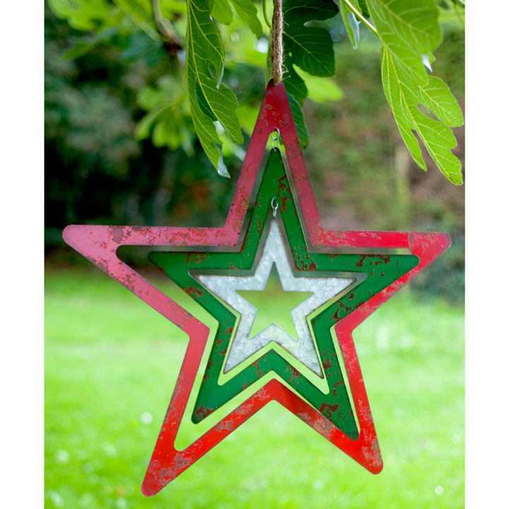 Large Metal Hanging Star Gifts For The Garden Gift Ideas Gardening