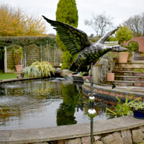 3D Weathervane with Garden Stake - Flying Duck