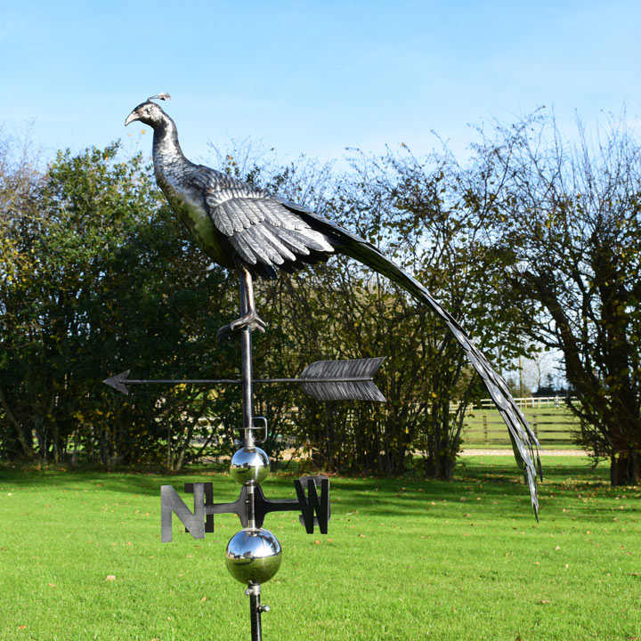 3D Weathervane with Garden Stake - Peacock