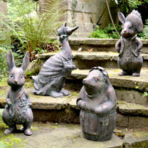 Beatrix Potter Garden Figures