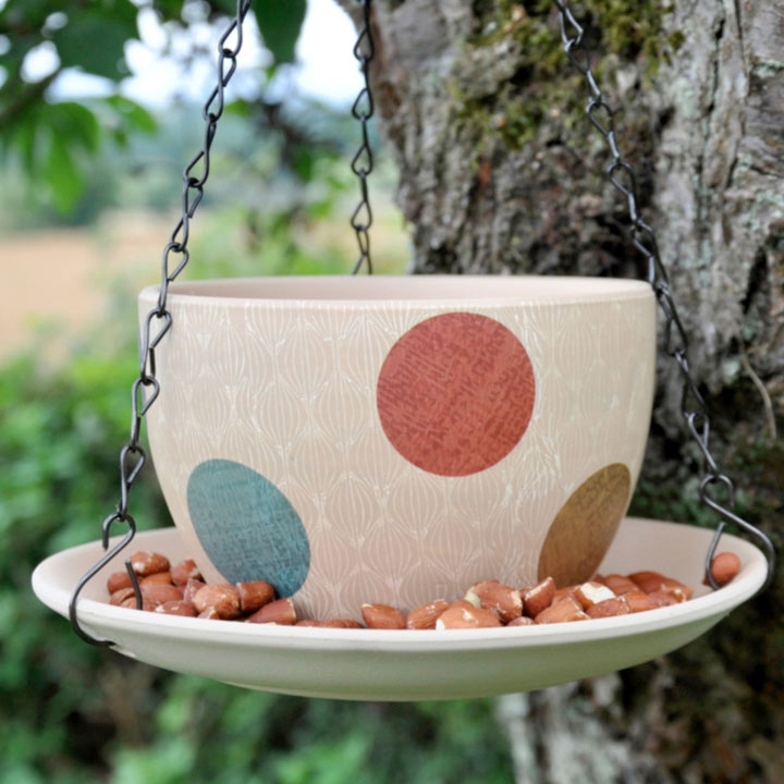 Hippy Pastel Teacup Feeder
