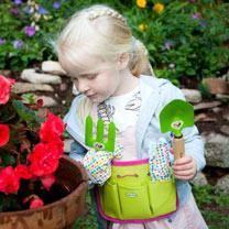 Personalised Children's Gardening Tool Kit - Pink