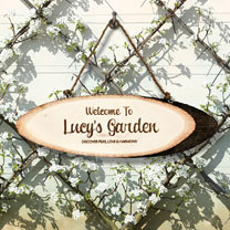 Personalised 'Welcome to...' Garden Sign