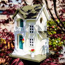 Main Street Cottage Birdhouse