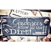 Gardener's Slate Sign