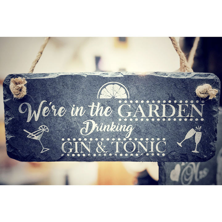 In The Garden Slate Sign