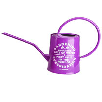 Gardening Quote Decorative Watering Can - Purple