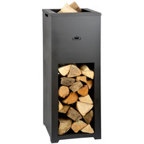 Fireplace with Wood Storage