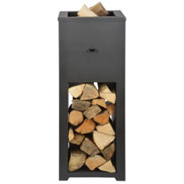 Fireplace with Wood Storage