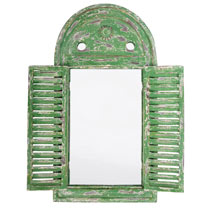 Louvre Mirror Green