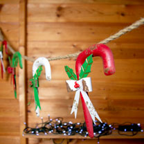 Metal Candy Cane Garland