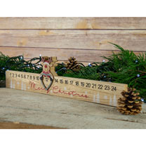 Wooden Advent Calendar with Reindeer Slider