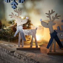 Reindeer Decoration with Grey Scarf