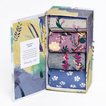 Socks Gift Box - Wildflowers