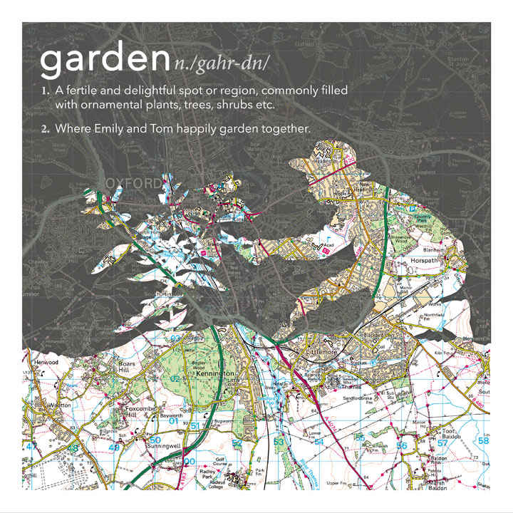 Dictionary Definition Map - Kneeling Gardener