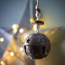 Metal Bell Decorations - Set of Three
