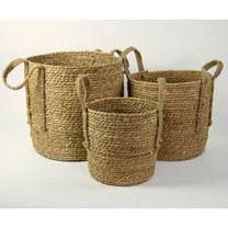 Set of Three Wicker Baskets