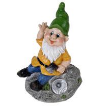 Solar Garden Gnome on Rock