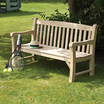 This sturdy bench is made from solid oak making it more substantial than many traditional hardwood benches. It can easily seat up to three people and