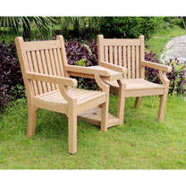 Love Seat (Zero Maintenance) - Teak