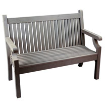 2 Seater Zero Maintenance Bench - Grey