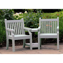 Love Seat (Zero Maintenance) - Grey